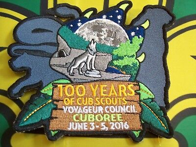 Canadian Scout Badge Voyageur Council  Cuboree 100 years of Cub Scouts
