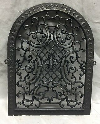 One Antique Arched Top Heat Grate Grill Maltese Cross Gothic Arch 12X16 645-18C