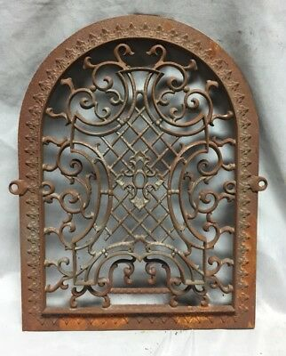 One Antique Arched Top Heat Grate Grill Maltese Cross Gothic Arch 11X14 647-18C