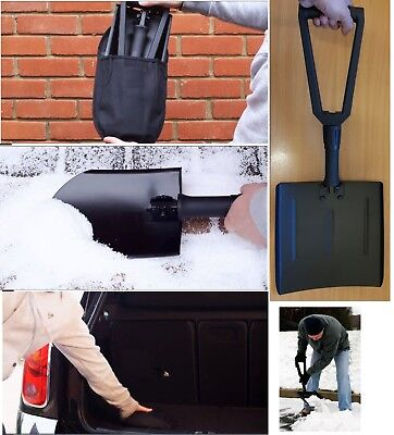Folding Heavy Duty Metal Snow Shovel Spade Suitable For Car Travel Space Saving