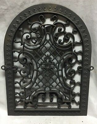 One Antique Arched Top Heat Grate Grill Maltese Cross Gothic Arch 11X15 648-18C