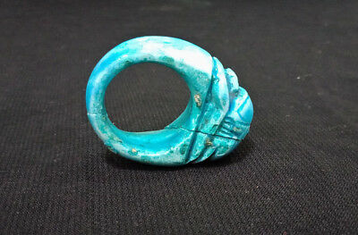 Egyptian faience Scarab Amulet Ring Ancient Egyptian civilization Figurine