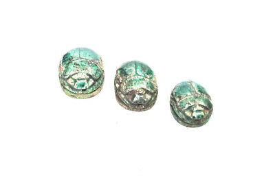 Scarabs Family Egyptian Antiques Figurine With hieroglyphics Beautiful Family