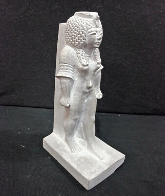Goddess Hathor egyptian Antique statue With Hieroglyphic writings Figurine