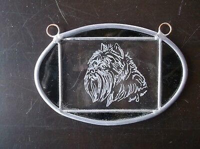 Affenpinscher-  Beautifully  Hand Engraved  Ornament by Ingrid Jonsson.