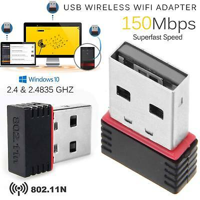 Wireless Mini USB 2.0 WiFi WLAN Adapter Stick Dongle 150 Mbit IEEE 802.11b/g/n