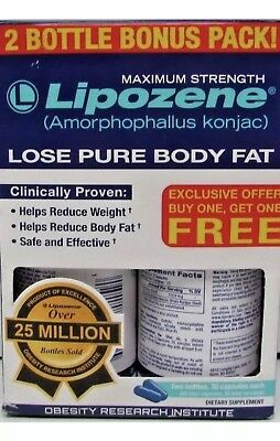 New Lipozene Weight Loss Pills Maximum Strength Bonus exp. 2020 damaged packing