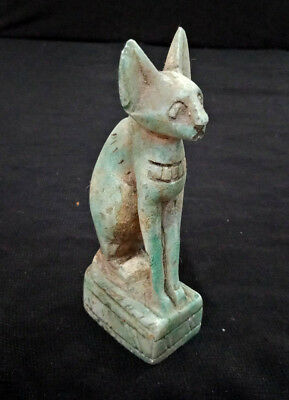 Bast Egyptian Antiques Cat Goddess Figure Rare Statue