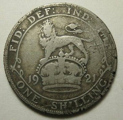 Great Britain Shilling 1921 SILVER King George V