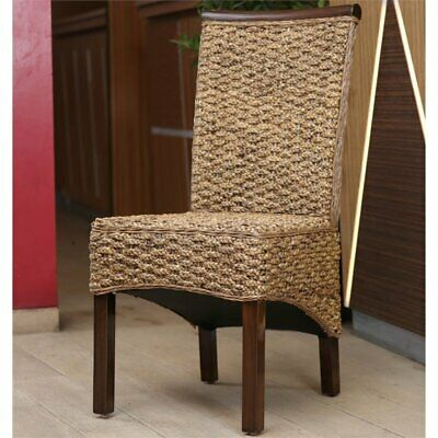 Munga Hand-Woven Mahogany Dining Chair (Set of 2)