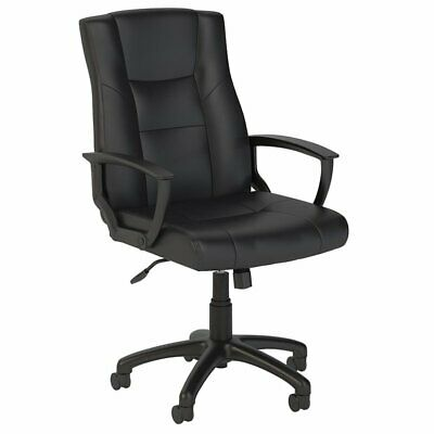 Bush Business Accord Leather Executive Office Chair in Black