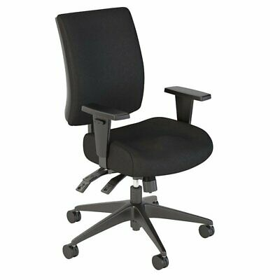 Bush Business Accord Mid Back Deluxe Office Chair in Black Fabric