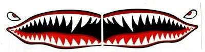 "# Flying Tigers shark teeth decal sticker 1.5"" t x 3.5"" w WWII Military Airplane"