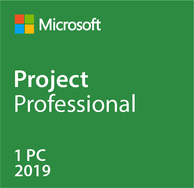 MICROSOFT PROJECT 2019 PROFESSIONAL for WINDOWS 1PC (bind to Microsoft account)
