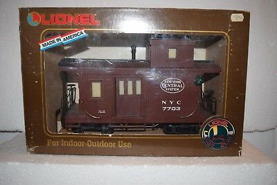 G Scale trains Lionel New York Central Illuminated Caboose 7703