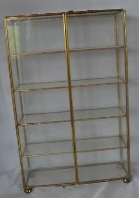 Vintage Glass Footed Shelf Wall Table