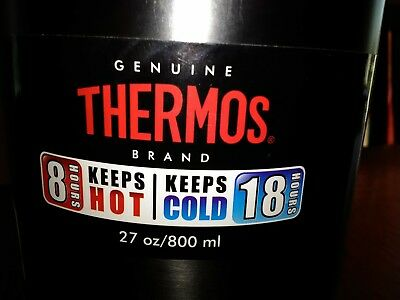 Thermos 8 ounces keeps things cold or hot for 18 hours vacuum insulated food jar