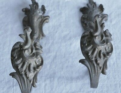 Antique Curtain Tie Backs French Brass Fittings Vintage Rococo Reclaimed Salvage