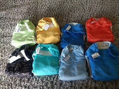 Cloth Diapers lot by Bum Genius with washable Pail Liner And Wet Bag