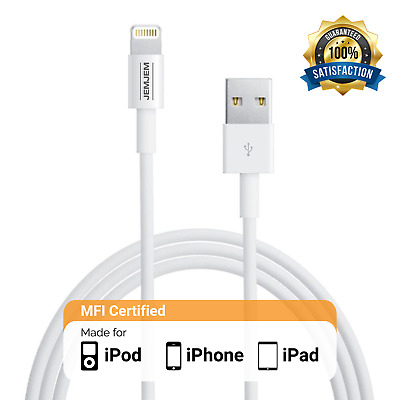 MFI Certified USB Lightning Cable Charger for Apple iPhone 5 6 6s 7 8 X [Lot]