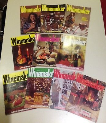 Vintage Winemaker Magazines 1977 Collection Of 10 For The Amateur Brewer