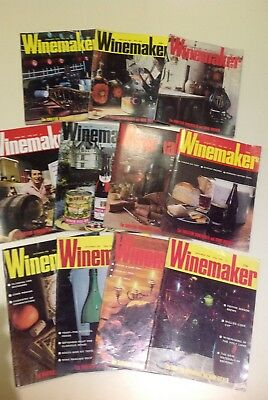 Vintage Winemaker Magazines 1978 Collection Of 11 For The Amateur Brewer