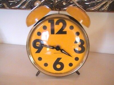 very bright , large numbers  2 bells wind  up alarm clock
