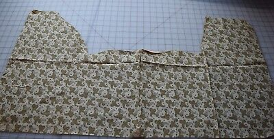 6955 small Piece antique 1880's paisley cotton fabric, shades of tan