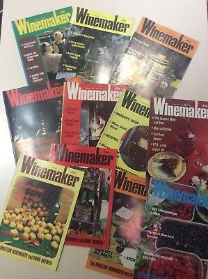Vintage Winemaker Magazines 1982 Collection Of 11 For The Amateur Brewer