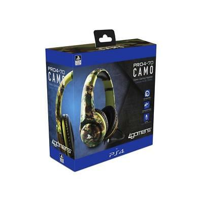 Official Licensed PRO4-70 Green Camo Stereo Gaming Headset Playstation 4 PS4