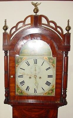 antique Early 19th century tall case grandfather clock--bell strike15503