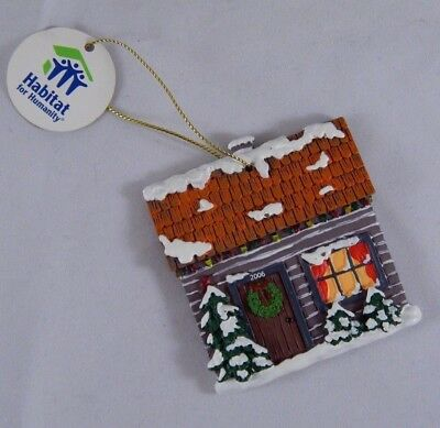 Habitat for Humanity Christmas Tree Cottage Cabin Ornament 2006 Collectible