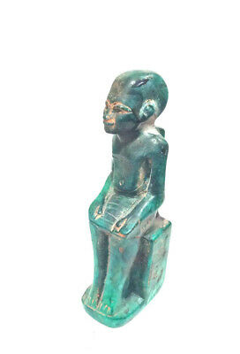 Rare Priest Statuette Egyptian Antique High Priest Statue With hieroglyphics