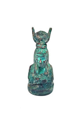 Isis goddess Amulet egyptian antiques figurine Head rare faience amulet