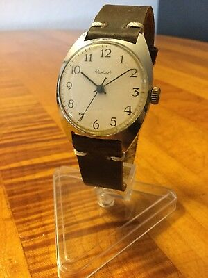 Rare USSR Raketa Vintage ORiGINAL Men's Watch WORKING 1988 Made New STRAP.