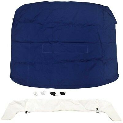 Formula Boat Bimini Cover 50367 | 241 SA w/ Boot Blue White 105267522