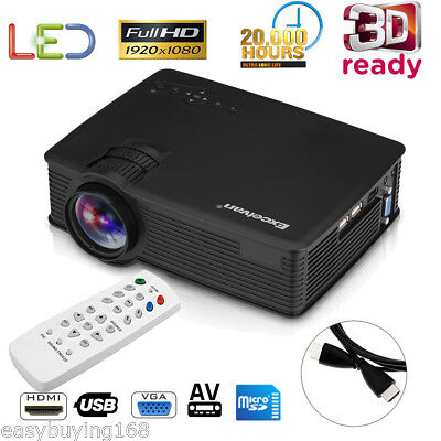 Portable Mini LED 1080p HD 3D Projector Home Cinema Theater for Iphone Android