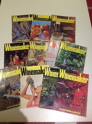 Vintage Winemaker Magazines 1976 Collection Of 11 For The Amateur Brewer