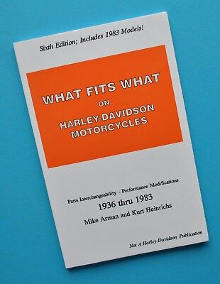 1936-83 Harley What Fits What Motorcycle Service Manual Book FLH XLH WL UL UH EL