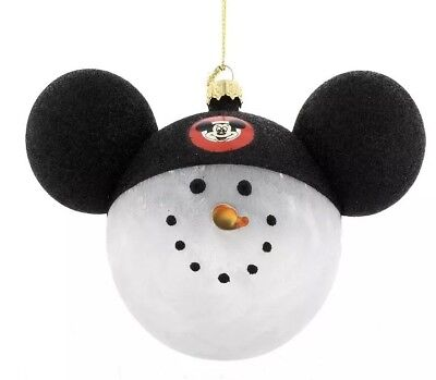 Mickey Mouse Clubhouse Snowman Ornament Walt Disney World Theme Parks NEW NWT