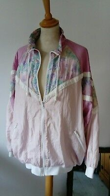 VINTAGE RETRO 80s SHELL SUIT JACKET CRAZY FESTIVAL