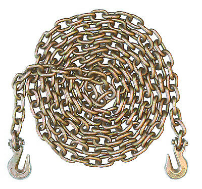1/2 Inch 10 Foot Feet Grade 70 Transport Binder Chain Grab Hooks on Both Ends
