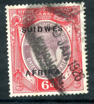 SOUTH WEST AFRICA SWA 1923 6d SUIDWES OVERPRINT TYPE D REVENUE FISCAL TAX