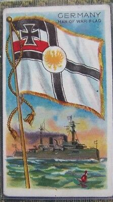 1910 Recruit Little Cigars tobacco card, Flags of All Nations Series, Germany