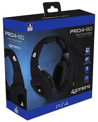 Official Premium Stereo Gaming Headset Black PRO4-80 Playstation 4 PS4