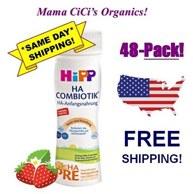 *FREE EXPEDITED SHIP!* 48 Pack HiPP PRE HA Organic Hypoallergenic Ready To Drink