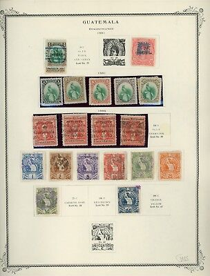GUATEMALA Album Page Lot #SPEC2 - SEE SCAN - $$$