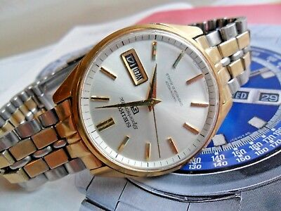 Vintage 1977 Men's Seiko Sportsmatic 5  21J Automatic Day Date Watch 6619-8050
