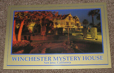 San Jose,Ca. - Winchester Mystery House Retired Unposted Postcard - Night View