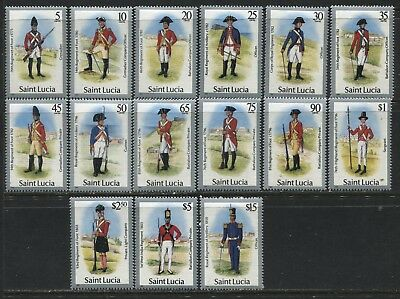 St. Lucia Military Uniforms to $15 mint o.g.